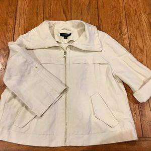 Ann Taylor Petite Womens Linen Jacket 8 Petite